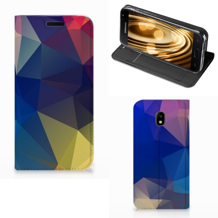 Samsung Galaxy J3 2017 Stand Case Polygon Dark