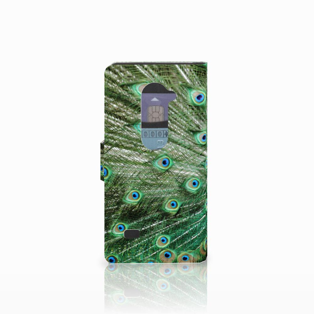 LG Leon 4G Telefoonhoesje met Pasjes Pauw