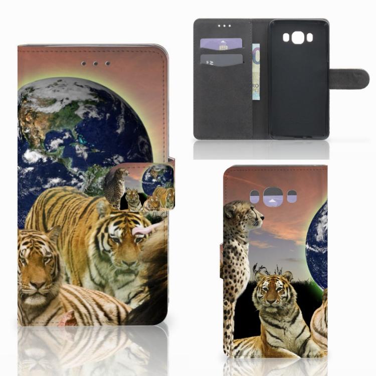 Samsung Galaxy J7 2016 Telefoonhoesje met Pasjes Roofdieren
