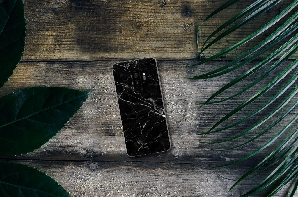 Samsung Galaxy S9 Plus TPU Siliconen Hoesje Marmer Zwart