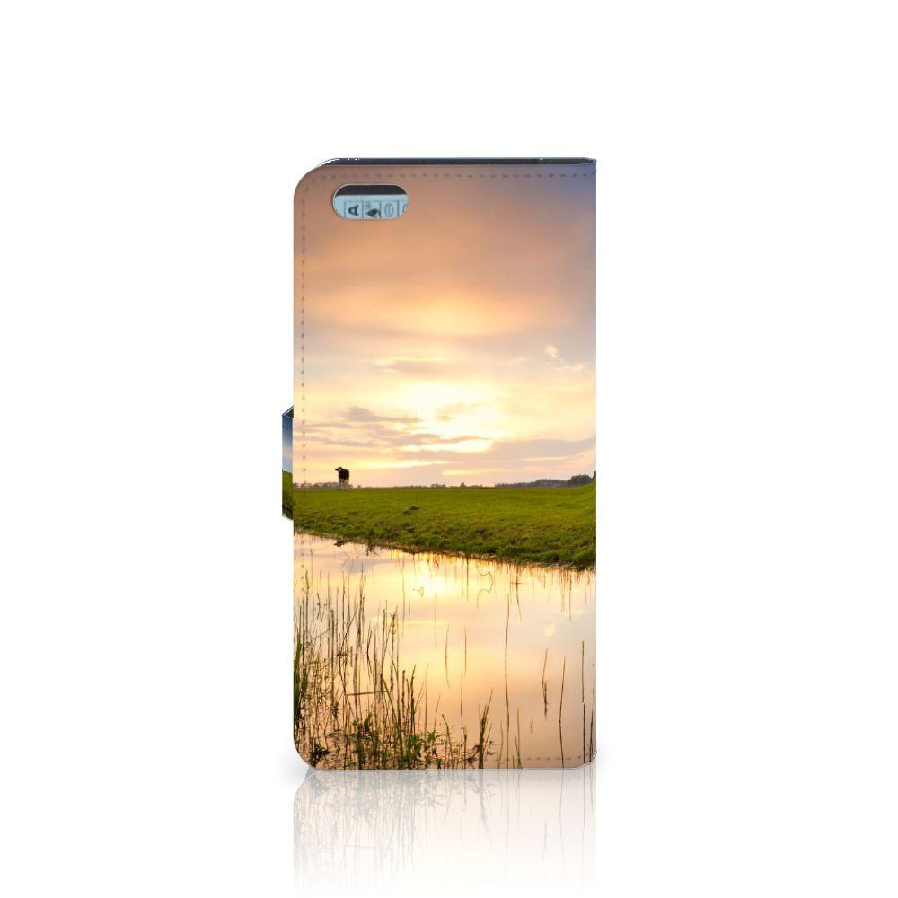 Apple iPhone 6 Plus | 6s Plus Telefoonhoesje met Pasjes Koe