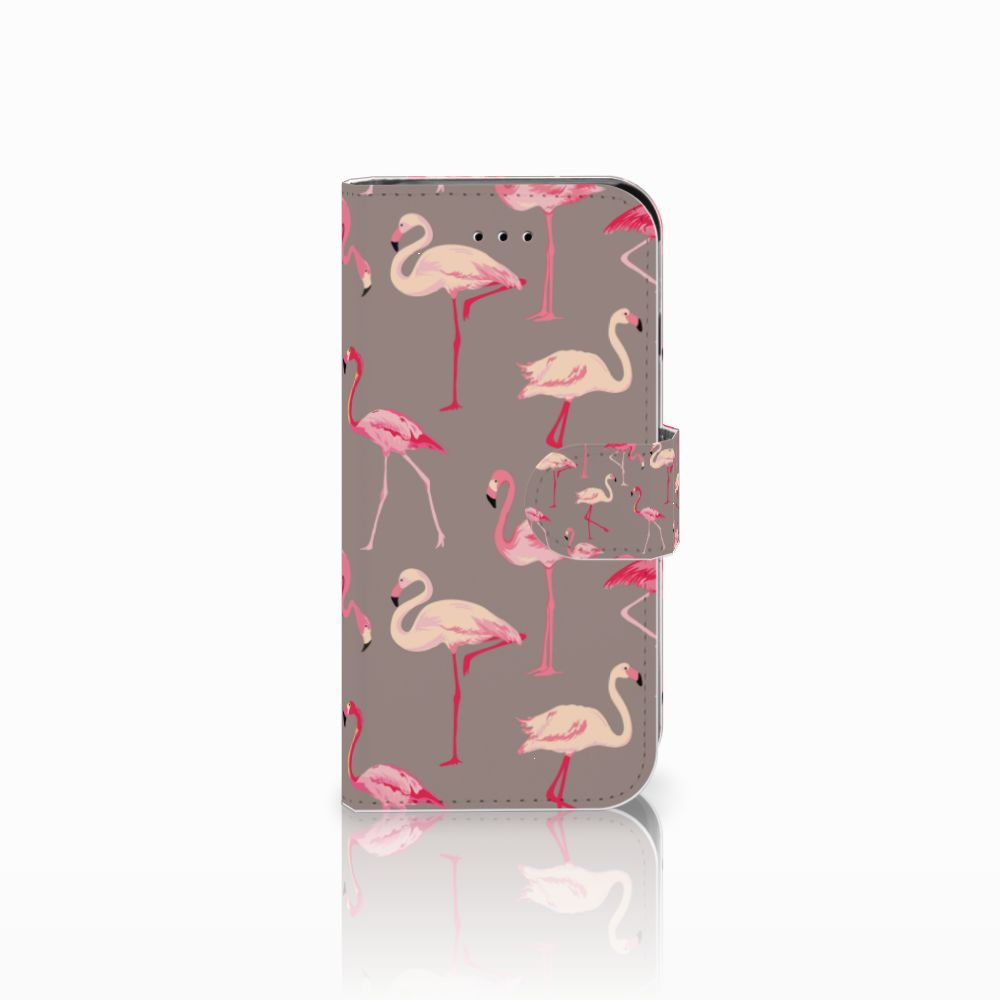 Apple iPhone 6 | 6s Uniek Boekhoesje Flamingo