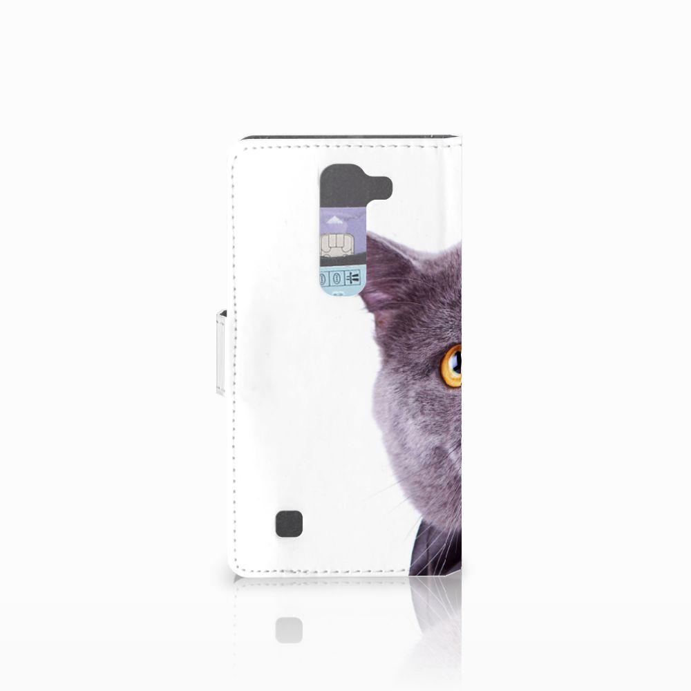 LG Magna | G4C Telefoonhoesje met Pasjes Kat