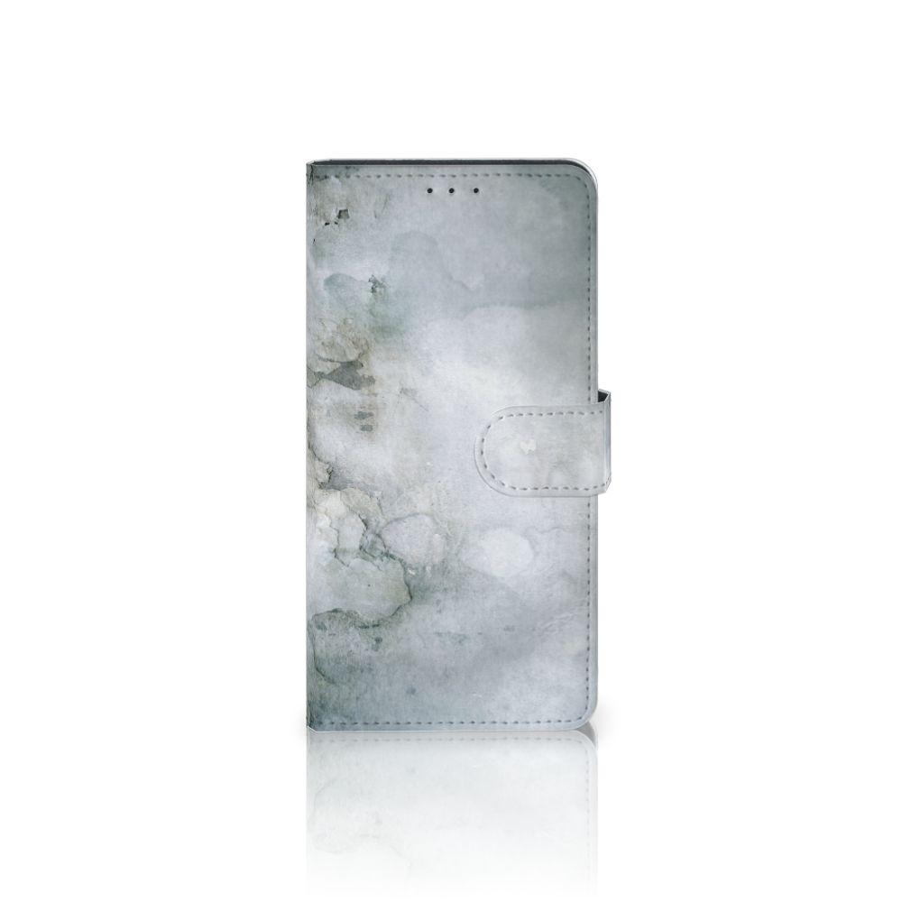 Motorola Moto Z Play Uniek Boekhoesje Painting Grey