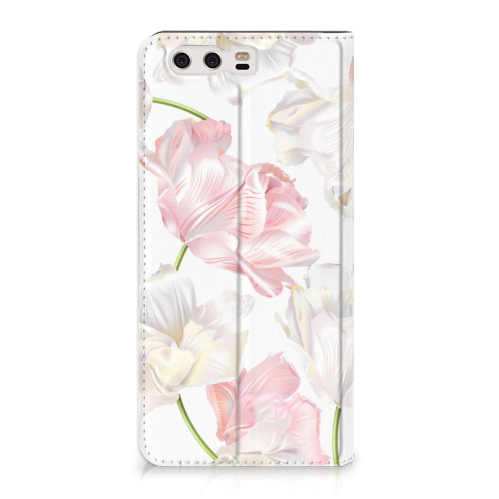 Huawei P10 Plus Standcase Hoesje Design Lovely Flowers