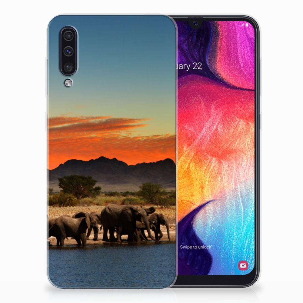 Samsung Galaxy A50 Leuk Hoesje Olifanten