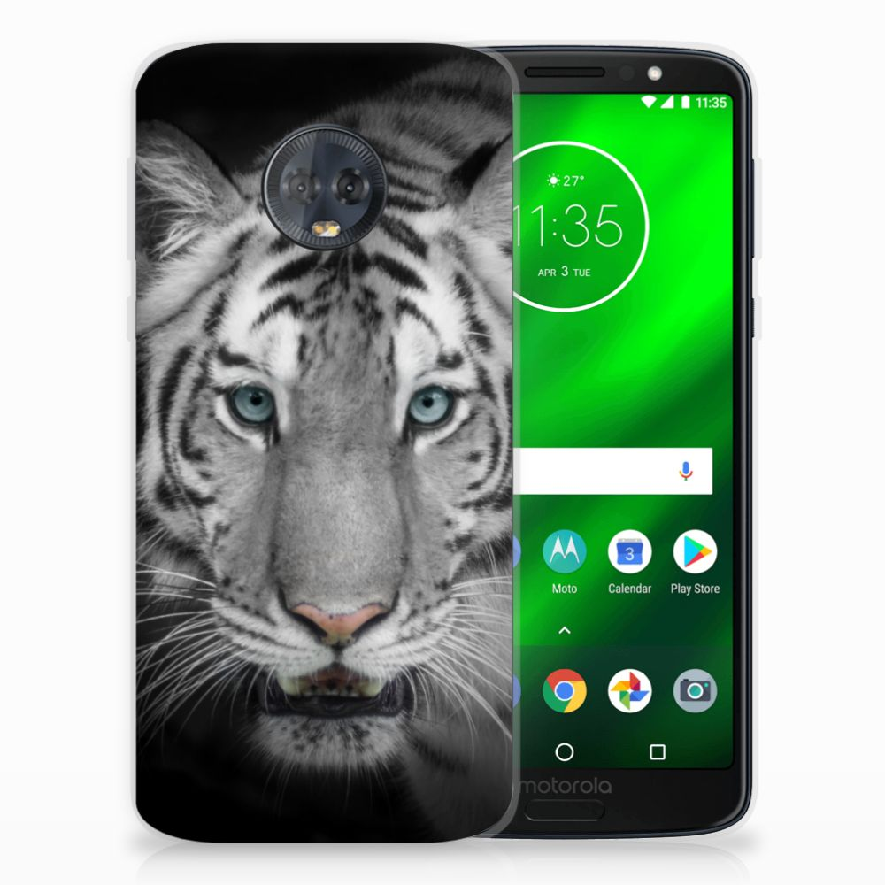 Motorola Moto G6 Plus Uniek TPU Hoesje Tijger