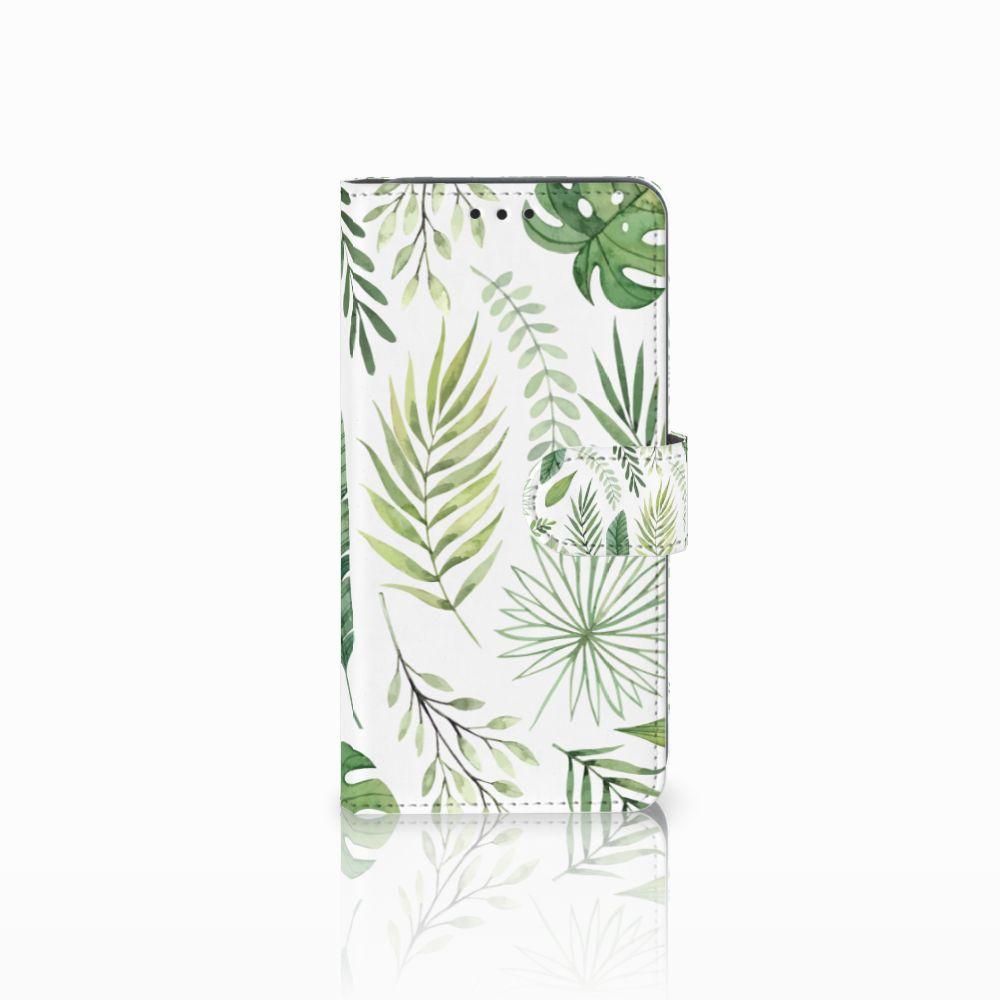 Samsung Galaxy A8 2018 Uniek Boekhoesje Leaves