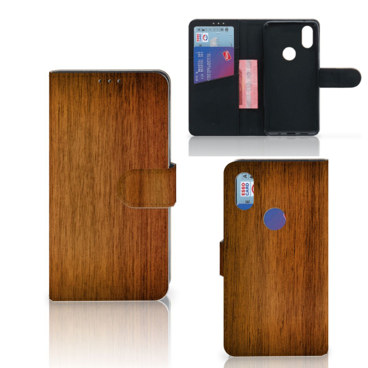 Xiaomi Mi Mix 2s Book Style Case Donker Hout