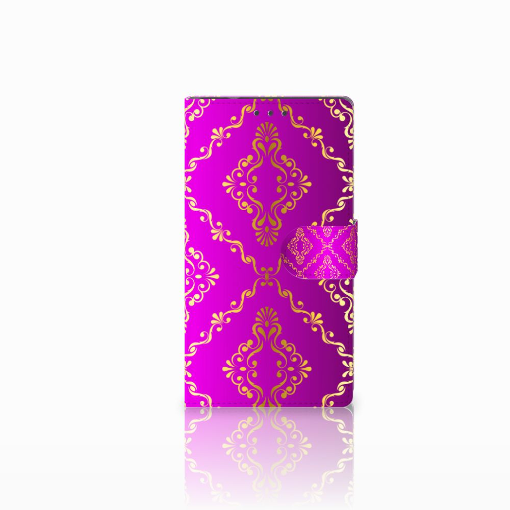 Samsung Galaxy Note 4 Uniek Boekhoesje Barok Roze