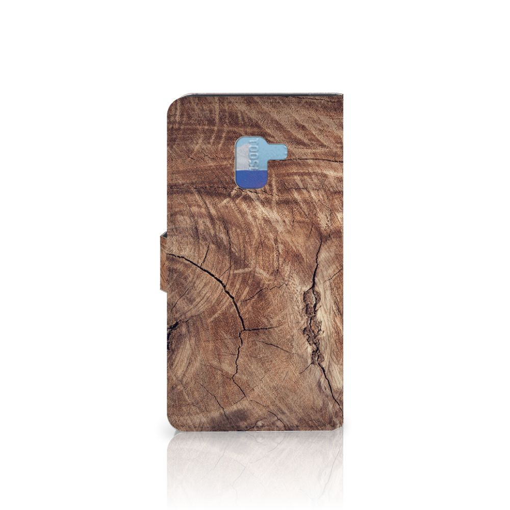 Samsung Galaxy A8 Plus (2018) Book Style Case Tree Trunk