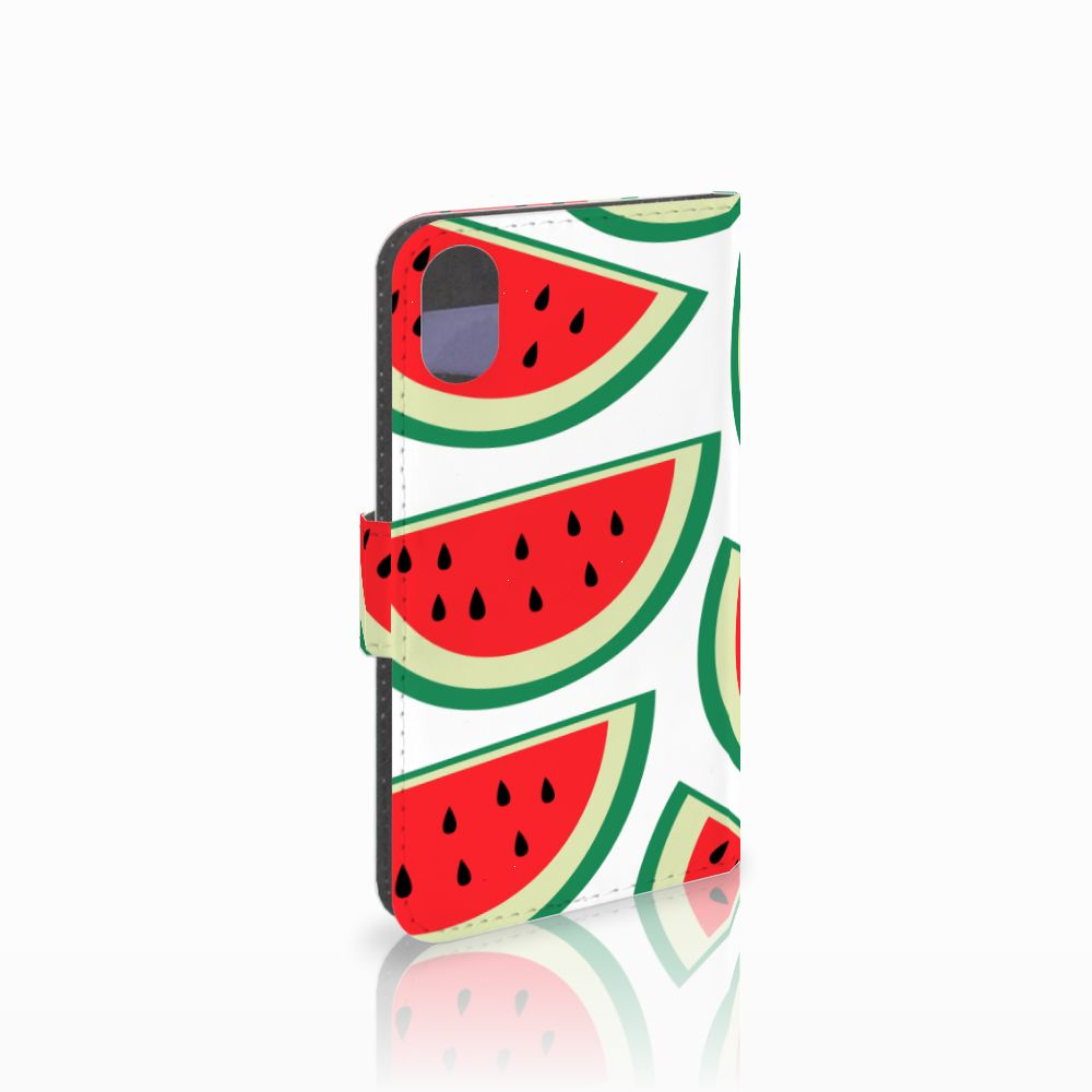 Apple iPhone X | Xs Uniek Boekhoesje Watermelons