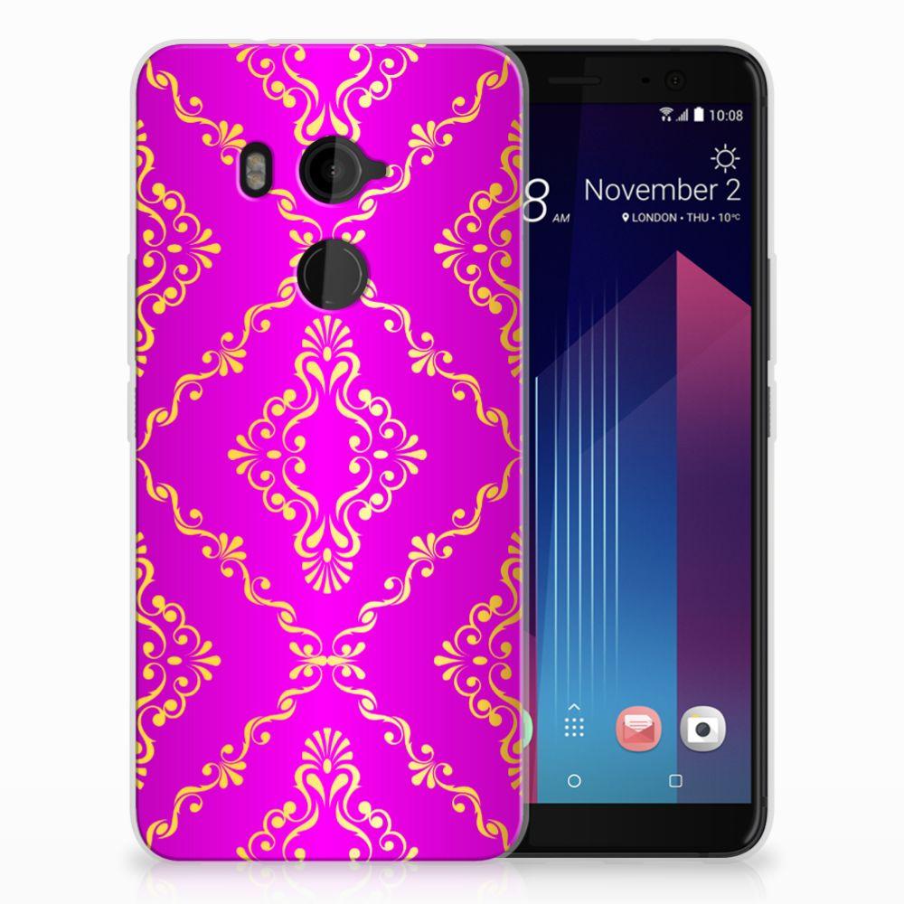HTC U11 Plus Uniek TPU Hoesje Barok Roze