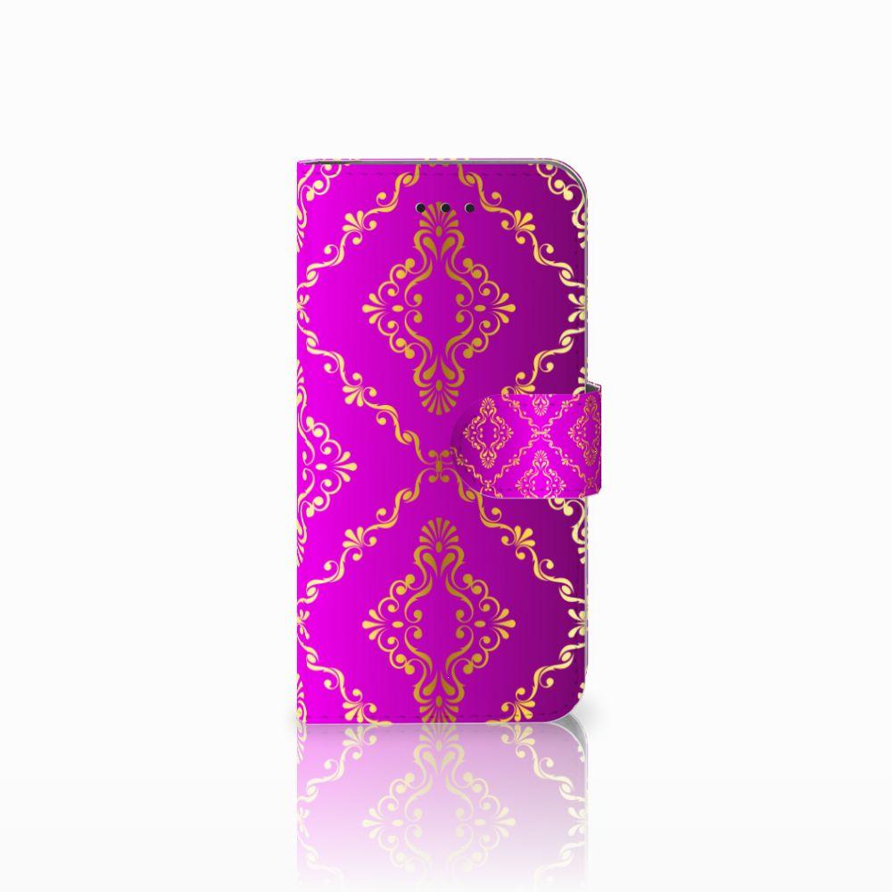 Apple iPhone X | Xs Uniek Boekhoesje Barok Roze