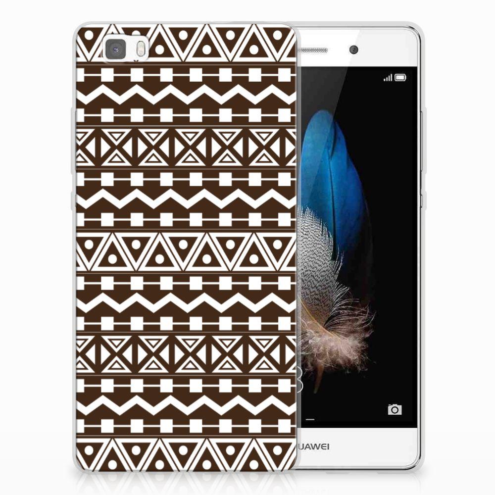 Huawei Ascend P8 Lite TPU bumper Aztec Brown