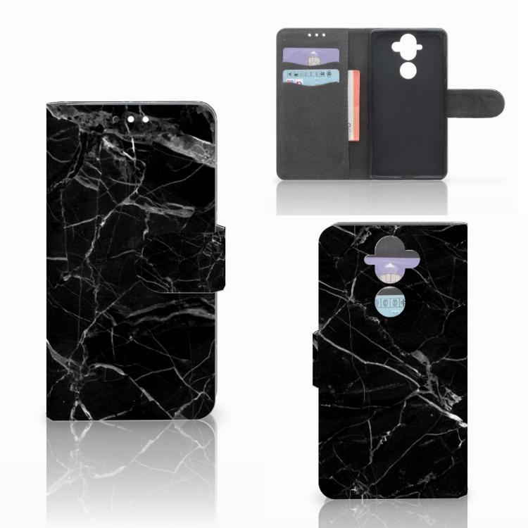 Nokia 8 Sirocco | Nokia 9 Bookcase Marmer Zwart - Origineel Cadeau Vader