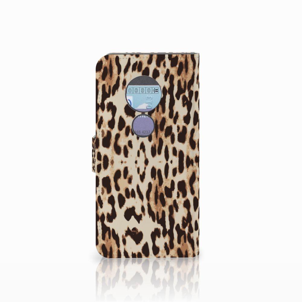Motorola Moto G6 Play Telefoonhoesje met Pasjes Leopard