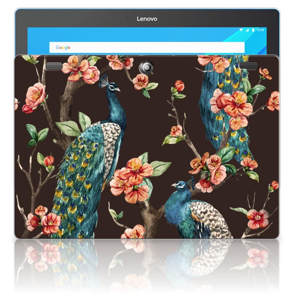 Lenovo Tab 10 | Tab 2 A10-30 Back Case Pauw met Bloemen