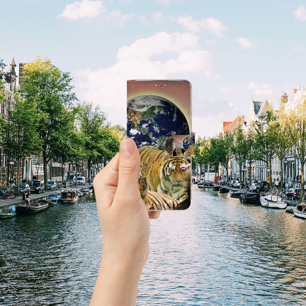 Huawei P30 Lite (2020) Telefoonhoesje met Pasjes Roofdieren