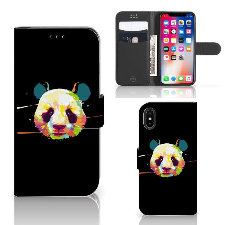 Apple iPhone X | Xs Leuk Hoesje Panda Color