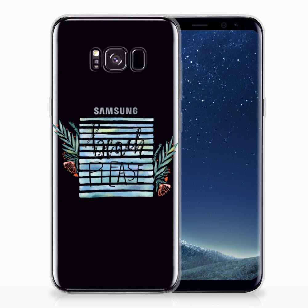 Samsung Galaxy S8 Plus Telefoonhoesje met Naam Boho Beach