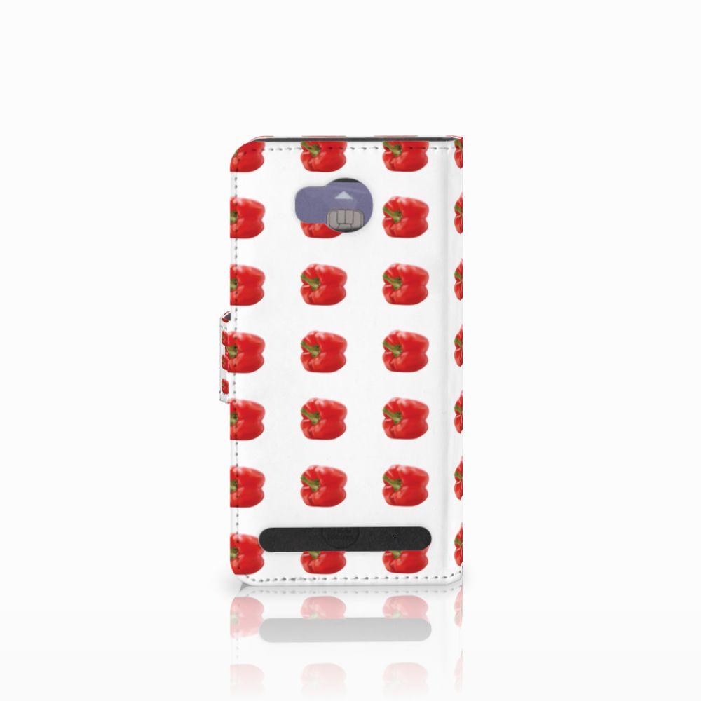 Huawei Y3 2   Y3 II Book Cover Paprika Red