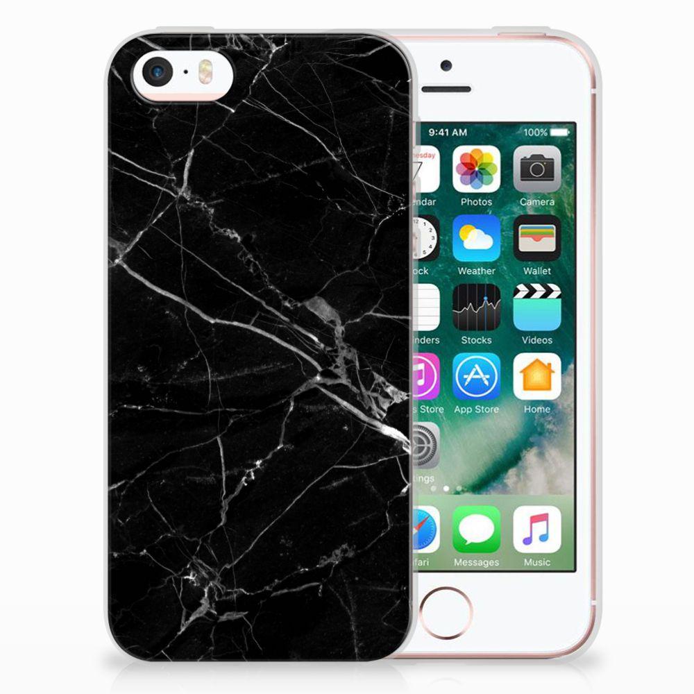 Apple iPhone SE | 5S Uniek TPU Hoesje Marmer Zwart