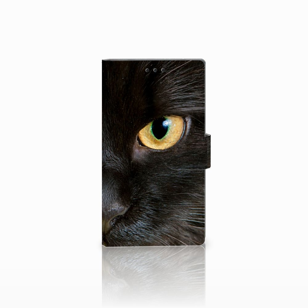 Sony Xperia L2 Uniek Boekhoesje Zwarte Kat