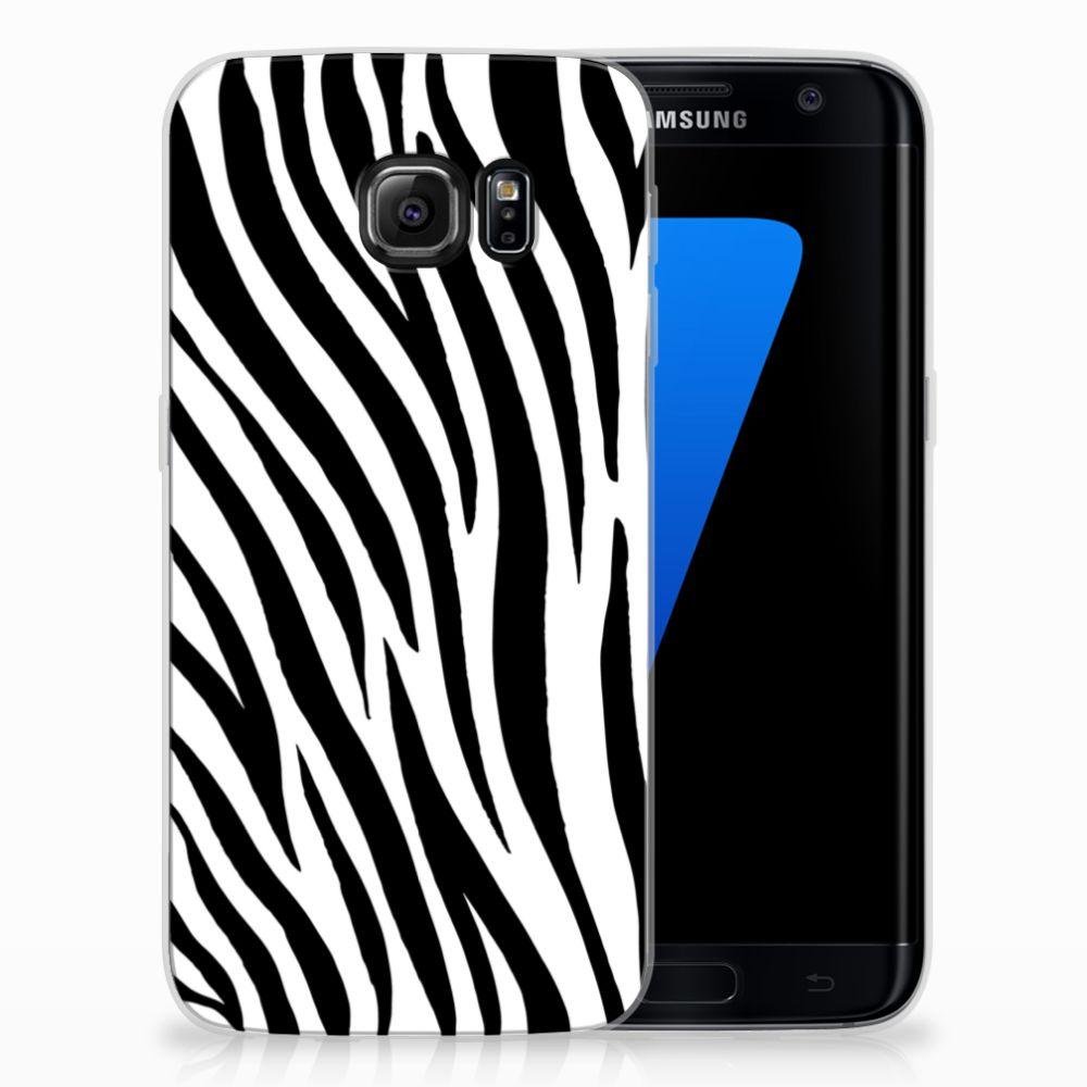 Samsung Galaxy S7 Edge TPU Hoesje Design Zebra