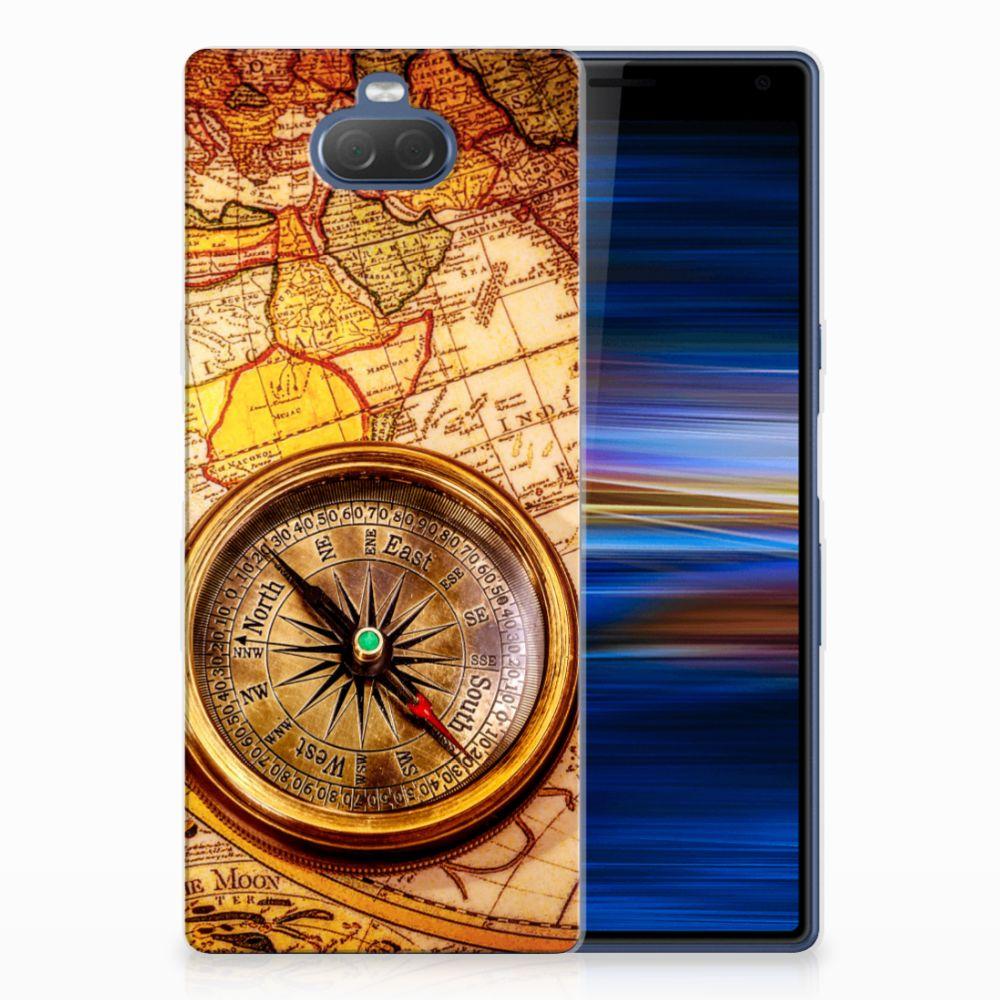 Sony Xperia 10 Plus TPU Hoesje Design Kompas