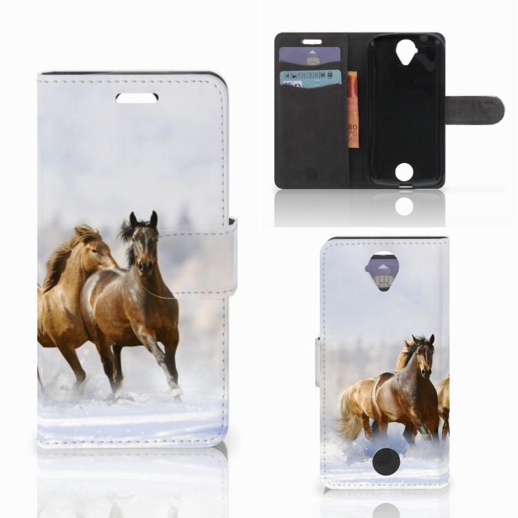Acer Liquid Z330 Telefoonhoesje met Pasjes Paarden