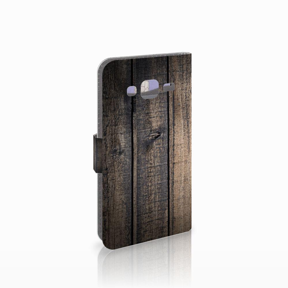 Samsung Galaxy J3 2016 Boekhoesje Design Steigerhout