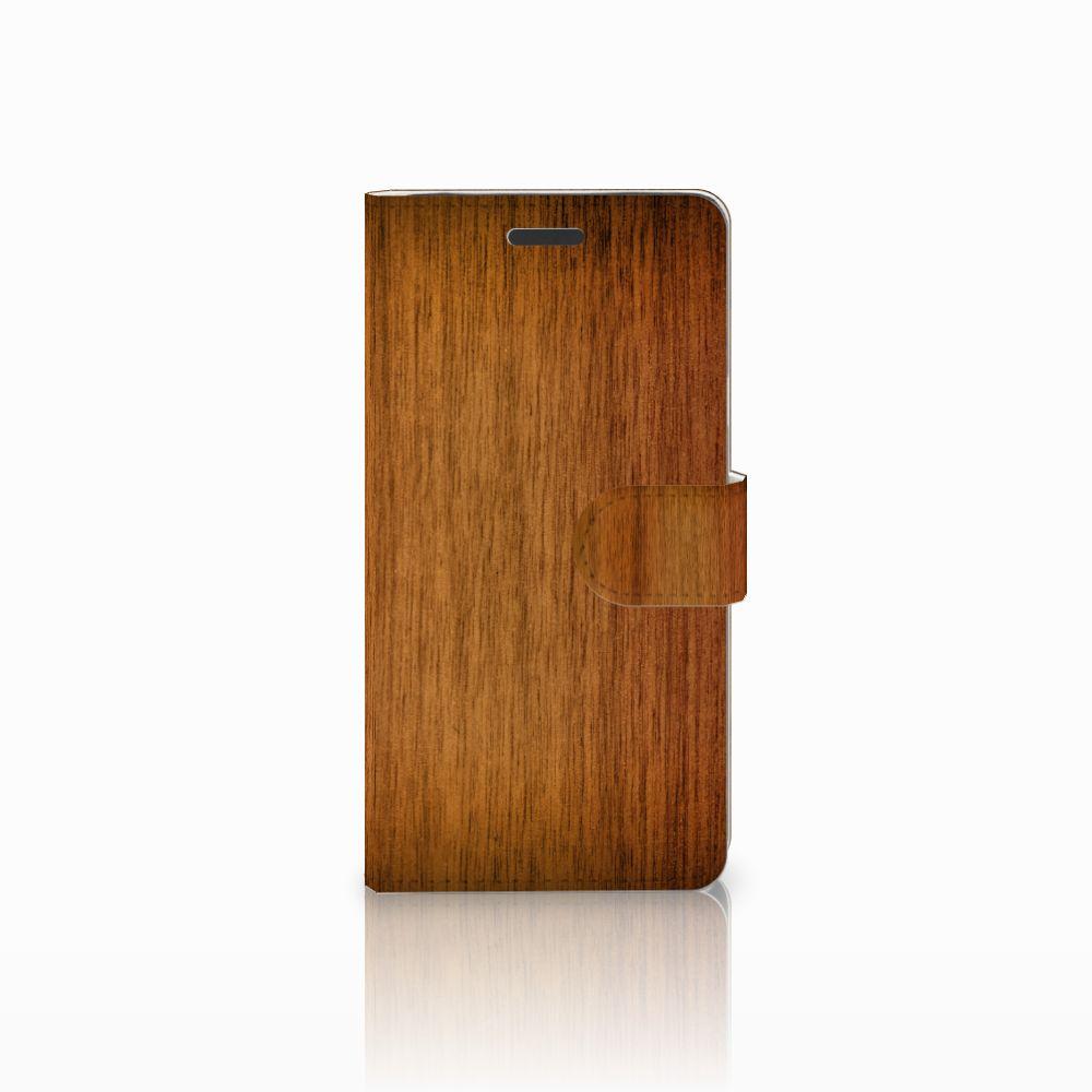 Samsung Galaxy Note 5 Uniek Boekhoesje Donker Hout