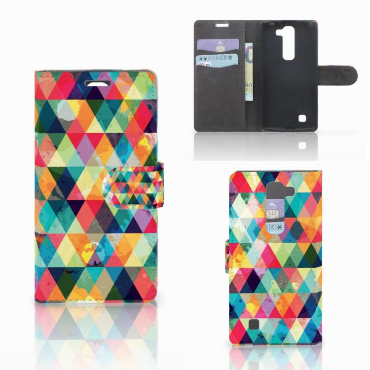 LG Magna | G4C Telefoon Hoesje Geruit