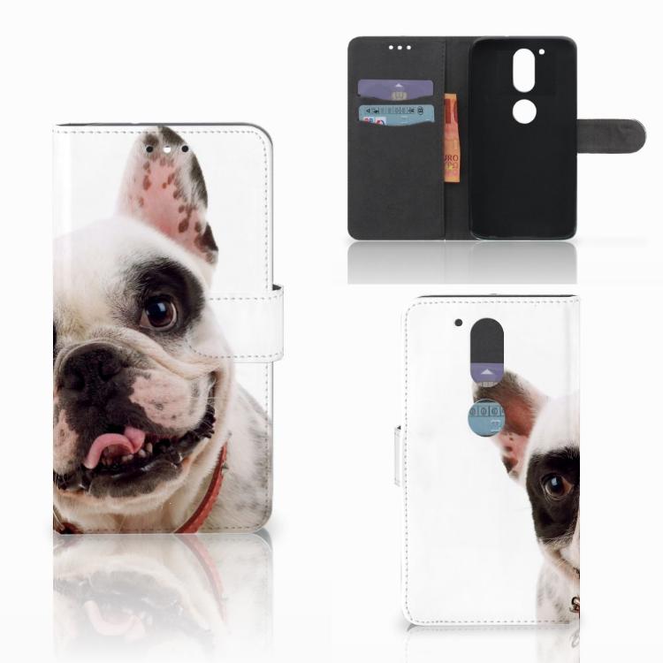 Motorola Moto G4 | G4 Plus Telefoonhoesje met Pasjes Franse Bulldog