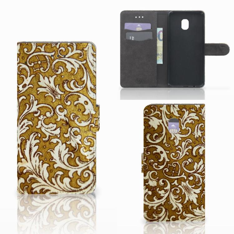 Wallet Case Samsung Galaxy J7 (2018) Barok Goud