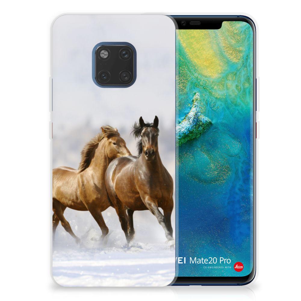 Huawei Mate 20 Pro TPU Hoesje Paarden