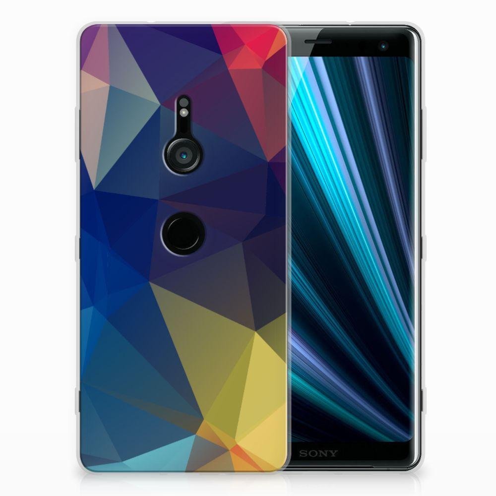Sony Xperia XZ3 Uniek TPU Hoesje Polygon Dark
