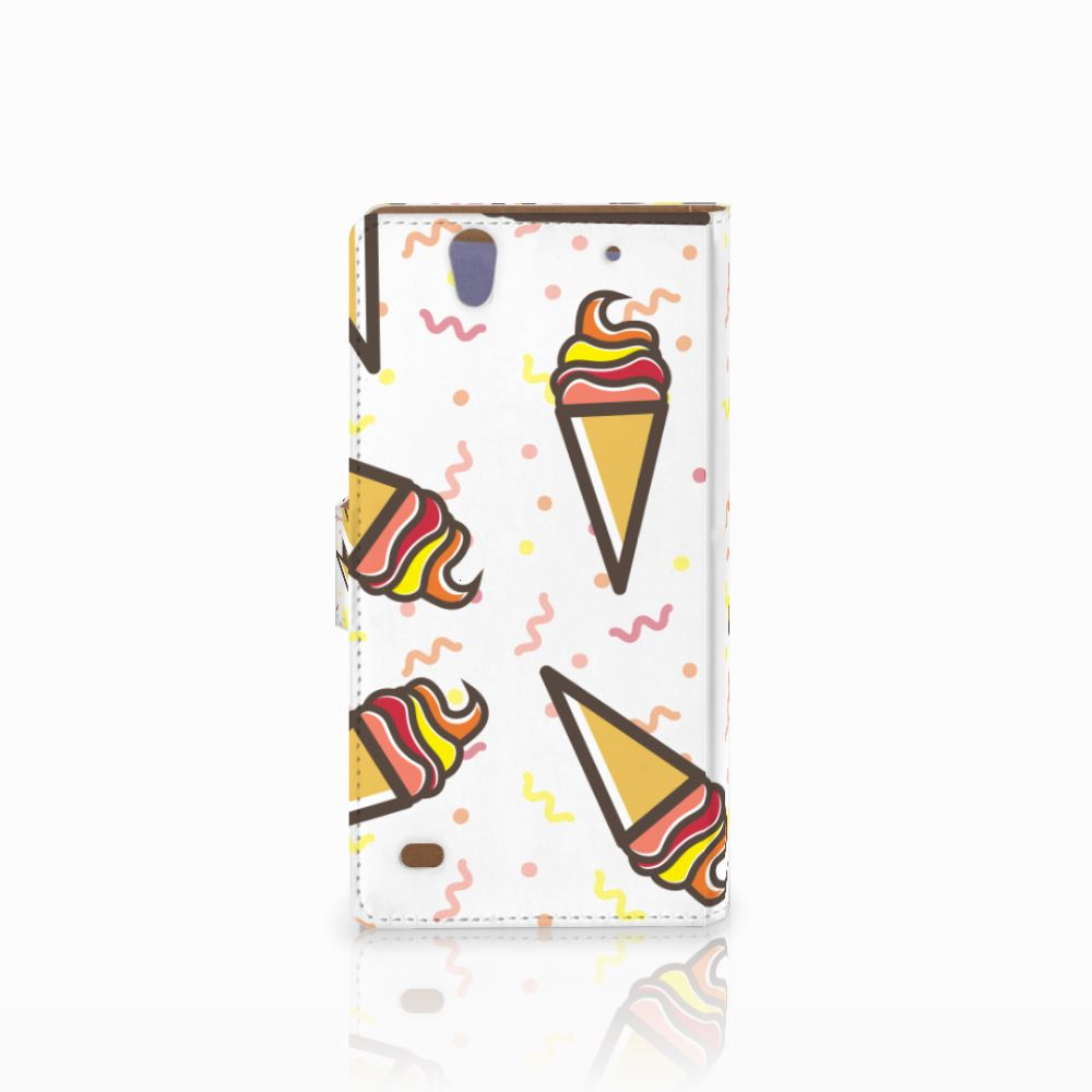 Sony Xperia C4 Book Cover Icecream
