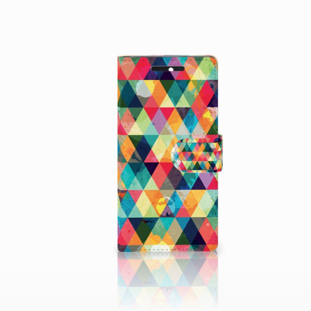 HTC Desire 628 Uniek Boekhoesje Geruit