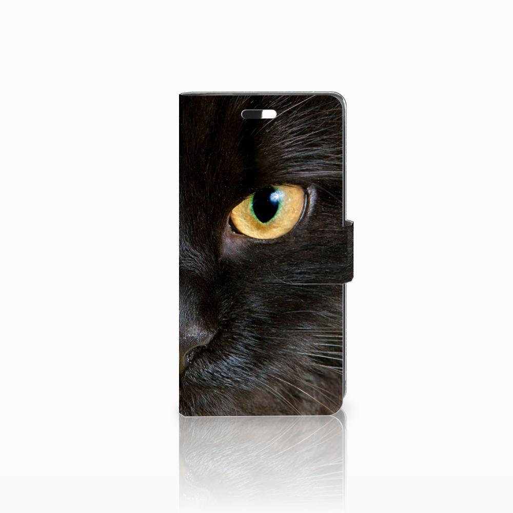 Huawei Y635 Uniek Boekhoesje Zwarte Kat