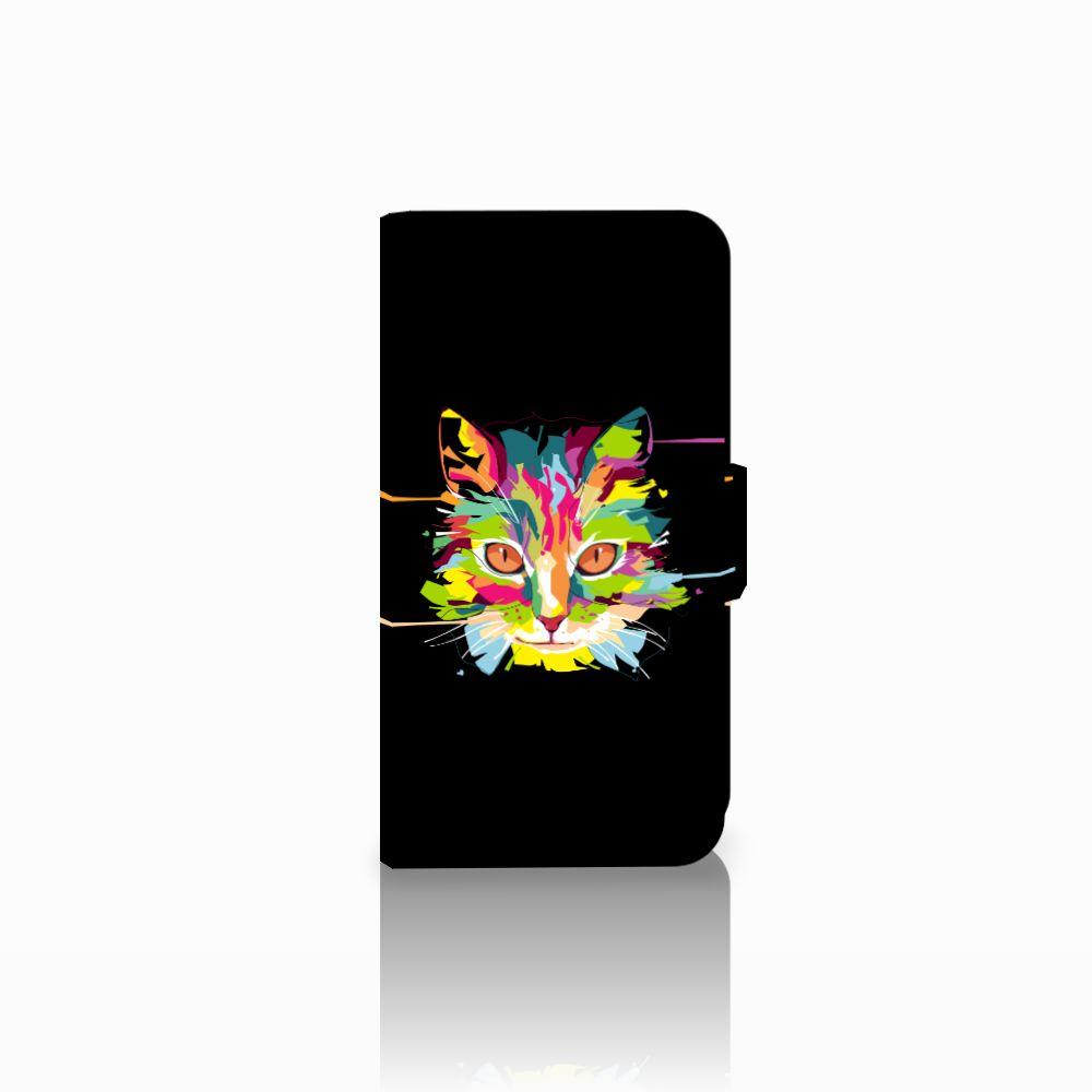 Microsoft Lumia 550 Uniek Boekhoesje Cat Color