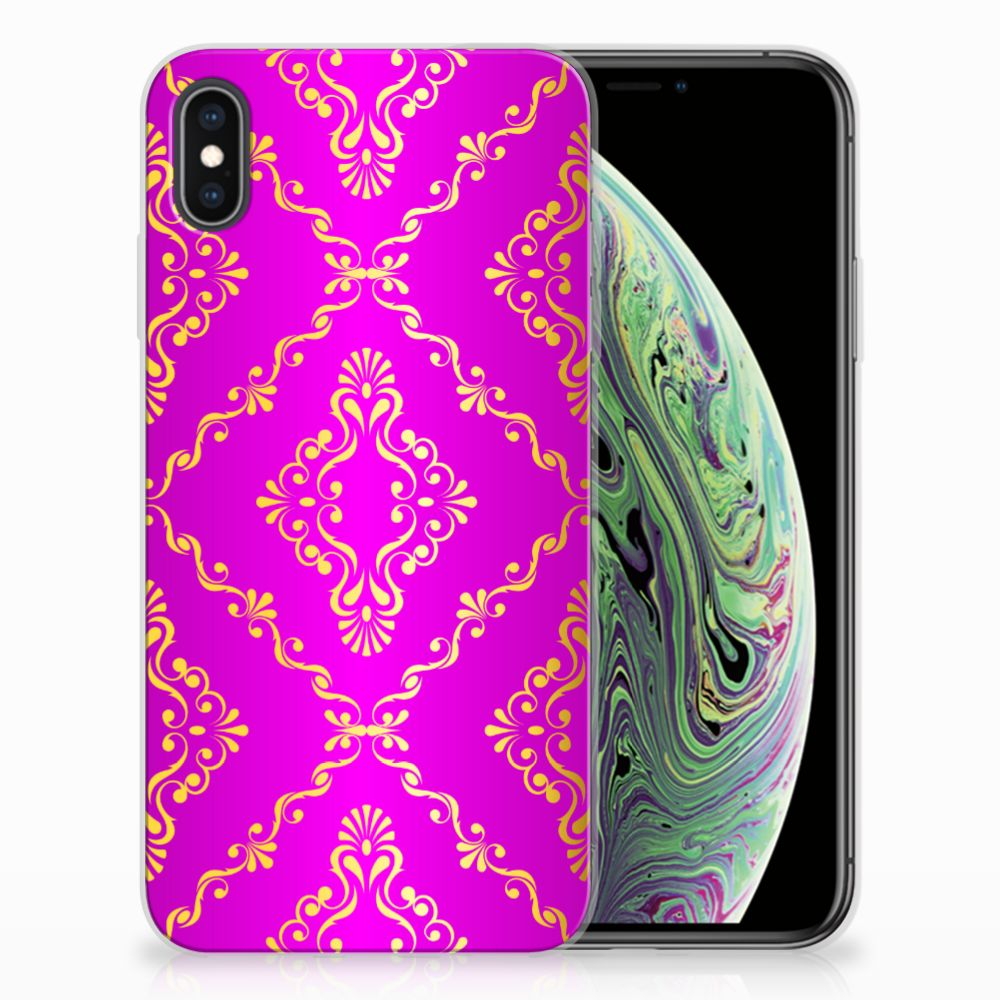 Siliconen Hoesje Apple iPhone Xs Max Barok Roze