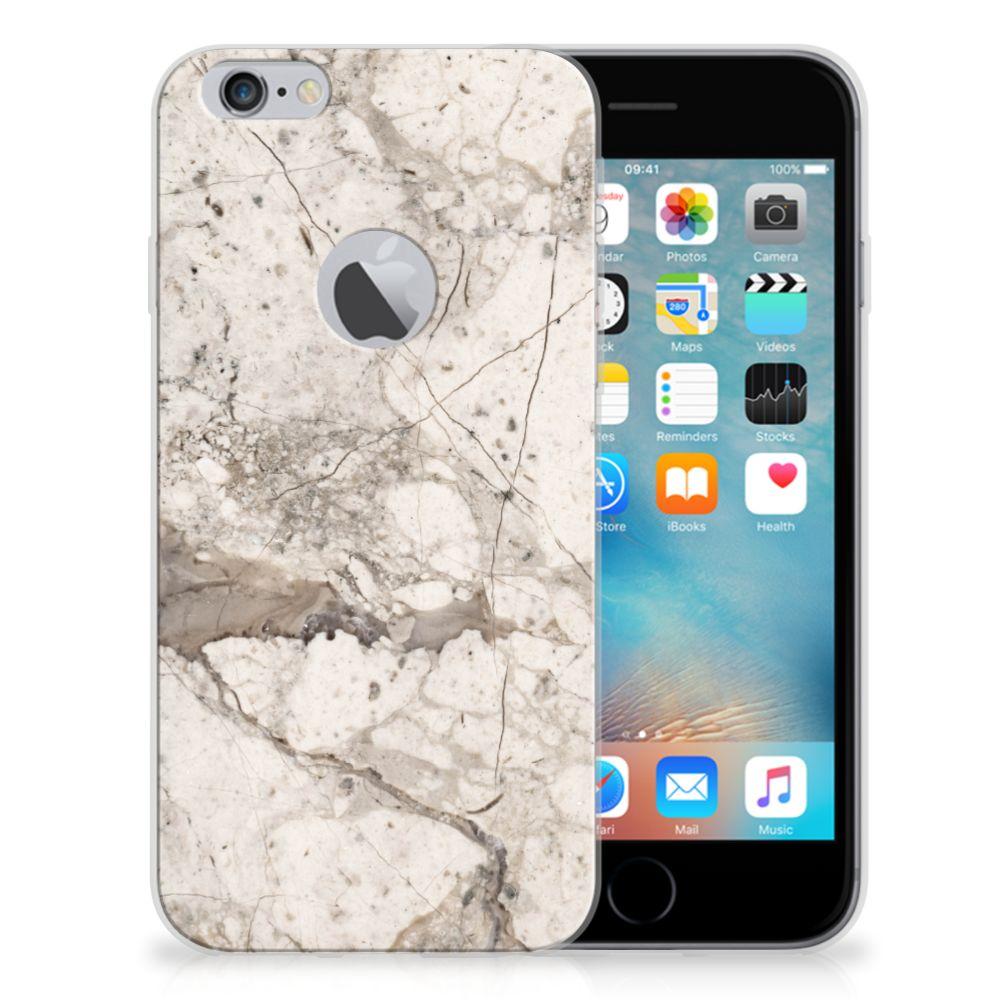 Apple iPhone 6 Plus | 6s Plus TPU Siliconen Hoesje Marmer Beige
