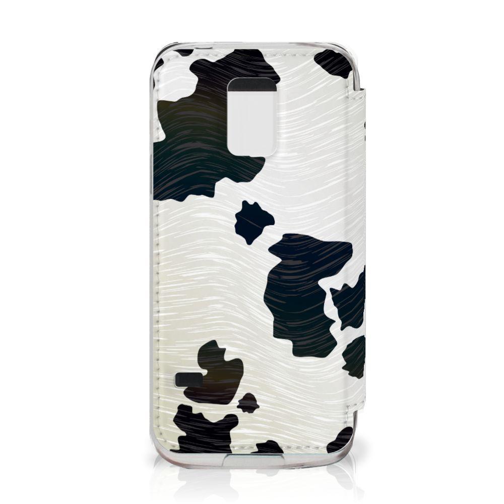 Samsung Galaxy S5 Mini Telefoonhoesje met Pasjes Koeienvlekken