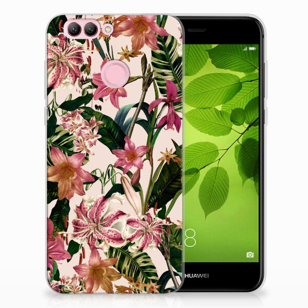 Huawei Nova 2 Uniek TPU Hoesje Flowers
