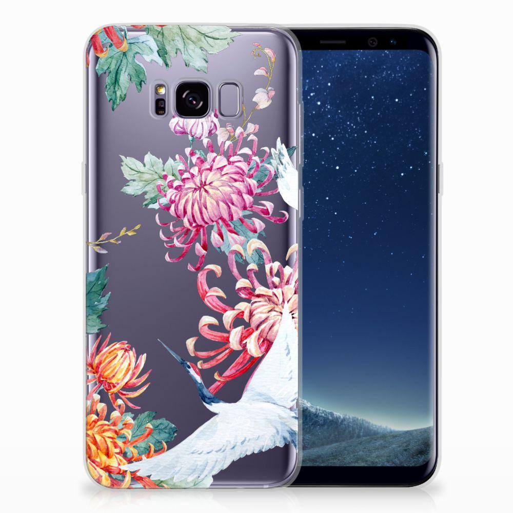 Samsung Galaxy S8 Plus Uniek TPU Hoesje Bird Flowers