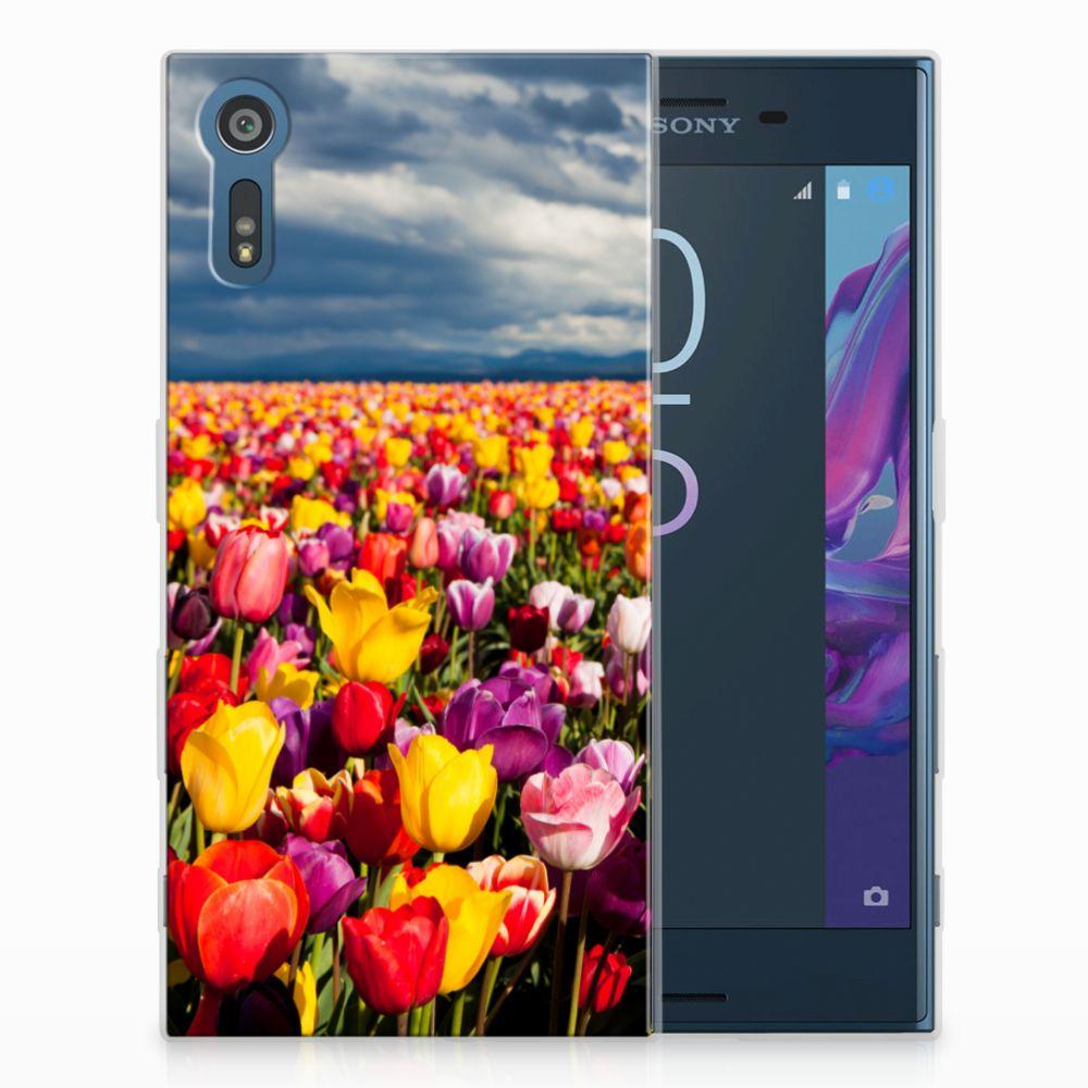 Sony Xperia XZs | XZ Uniek TPU Hoesje Tulpen