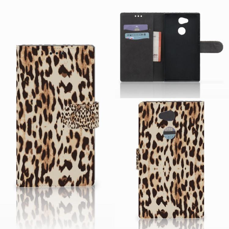 Sony Xperia L2 Telefoonhoesje met Pasjes Leopard
