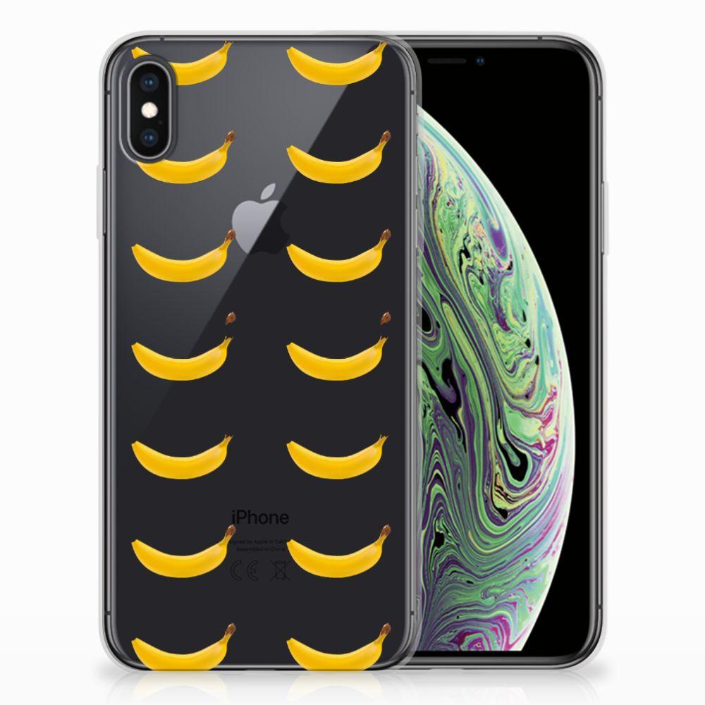 Apple iPhone Xs Max Siliconen Case Banana